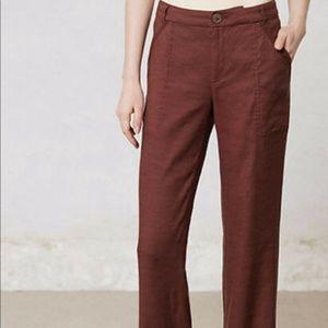 Anthropologie elevenses linen pants